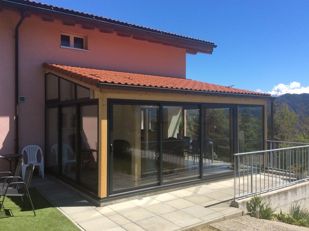 peut on fermer une terrasse en bois avec de l 39 alu. Black Bedroom Furniture Sets. Home Design Ideas